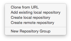 New Repository Options