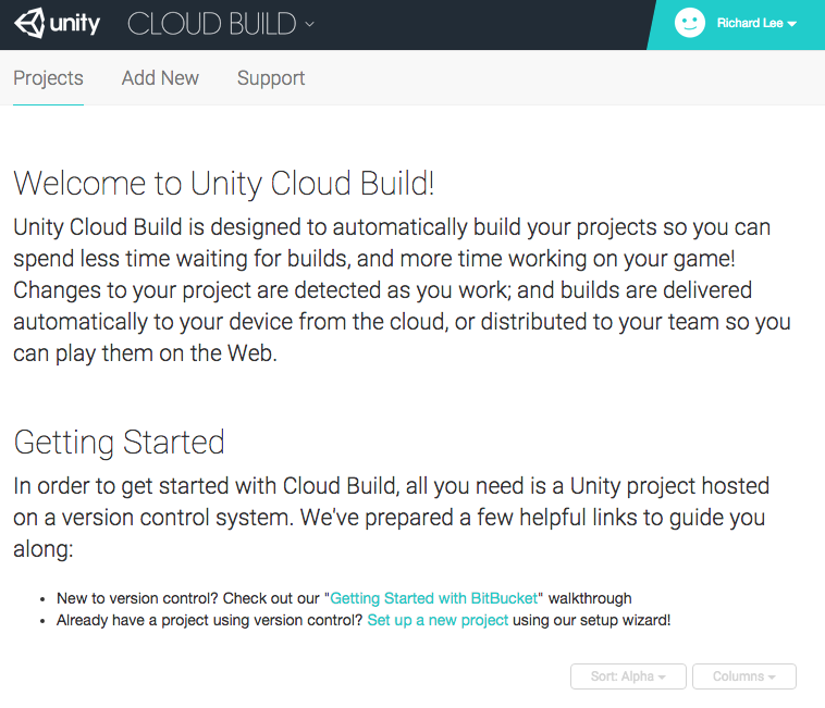 Cloud Build Home Page