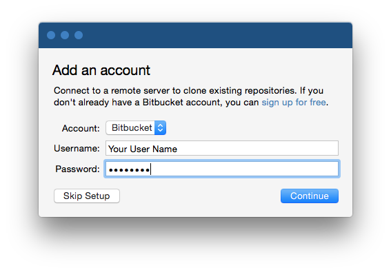 Create a repository on bitbucket